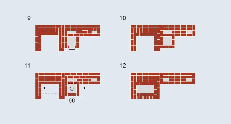 Отопительно-варочная печь с лежанкой + камин - изображение 8