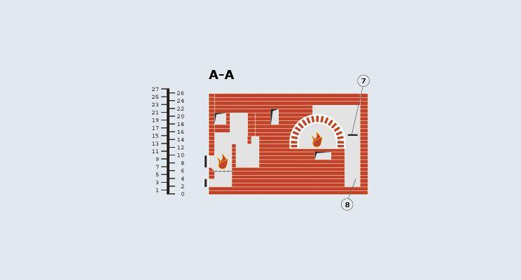 Многоцелевая отопительно-варочная печь с  нижним обогревом - изображение 1